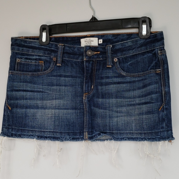 Abercrombie & Fitch mini jean skirt